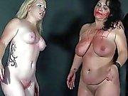 Spanking two amateur slavegirls