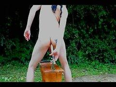 Fuck perse Strippaus Zoomaus cowboy alaston sen ulkopuolella ulkoilu