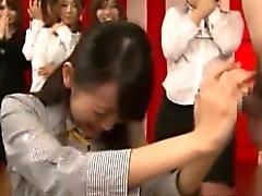 Von Nippon Büro Schlampen geben Kopf