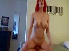 Amanda - Busty RedHead Mommy Fuck Young Boy