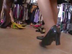 азиатского нейлоновых футов и высокие каблуки shoeplay во всем мире