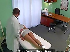 Blonde hottie fucked by doctor
