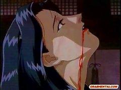 Brüste japanische Anime- wird Spinnen Monster gefickt