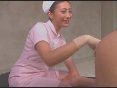 Enfermeira próstata massagem