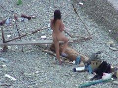 VOYEUR AUF DEM STRAND 7 Paar ficken am Strand