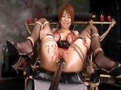 Esclavos japonesa obtiene enlazado , equipo jodido y hace cosas more perverso