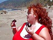 Fat bitch sucks cock and eats cum