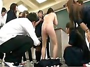 Delightful Japanese schoolgirl gets used and abused in the