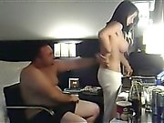 Very sexy slim busty amateur girl loves home made hard fuck