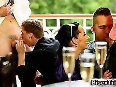 Polla gobbling orgia de grupo Bisexual Signo del