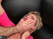 BANG Casting Kate England Fish hooked and face fucked