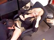 Horny babe fucked in office