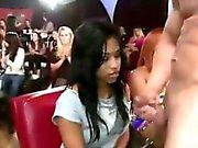 Party girl amateur jizzed by CFNM stripper
