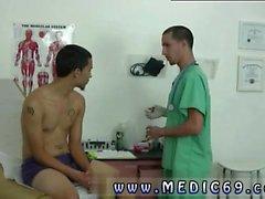 Médico tubo de examen masculino y examen médico cum golpe cum gay s