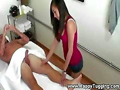 Sexy masseuse getting hot and horny for her client