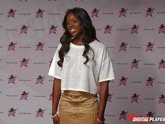 DP Star 3 - Hot Ebony Former Model Ana Foxxx Deep Throat Blowjob