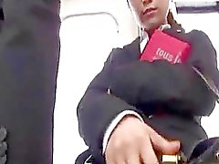 Office Lady Getting Her Tits Rubbed Fingered Stimulated With Vibrator By Guys On The Tube