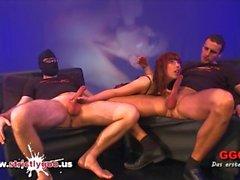 Nerd Fiona gets her Big Tits cum covered - German Goo Girls