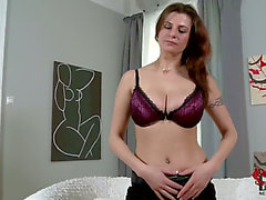 Breasty dark brown mother i'd like to fuck Angie acquires stripped in living room