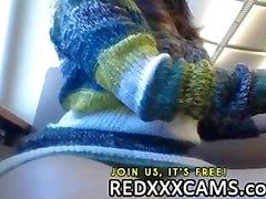 Netten jugendlich mit schöner Titten auf omegle von der redxxxcams zugespielt