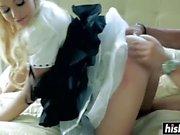 Cute maid asking for a raise