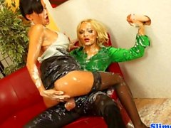 Ema Black and Jenna Lovely adore the wam drenching they get