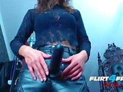 Smokin' Hot Mistress Humiliates Slave with Strap-on.