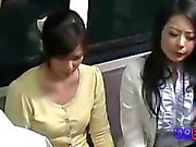 wife hard threesome fucked by driver on bus 1