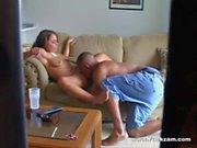Hidden Camera Captures Cute Blonde Girl Enjoying Horny Oral Sex