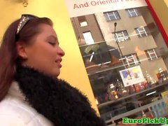 Busty euro pickup e pounded doggystyle