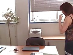 LaNovice - French slut Nora gets her pussy eaten out at the office