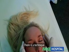 FakeHospital Blonde womans headache cured by cock and her squirting wet pussy