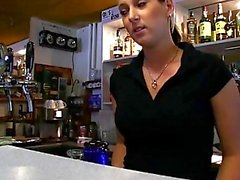 Barmaid Lenka screwed up for some money