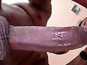 Sexy MILF enjoying black dick in her sex holes