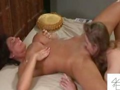 Young Teen Makes MILF Squirt Many Times!