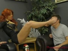 Neighborhood Bully Savana Makes Him Her Foot Worship And Ass Licking Bitch
