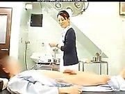 O tratamento tem uma enfermeira Censurado cumshots asiáticos queixo andorinha asiático japonês