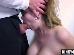Hot pornstar spanking with orgasm