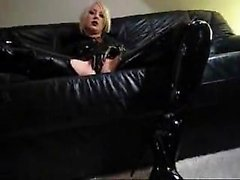 Blonde Mistress and her dildo play