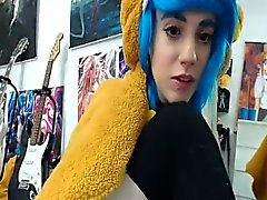 Great Pussy on Blue Haired Teen on Webcam