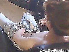 Orgias alegres de Jared está nervosa sobre seu primeiro o tempo a masturbação