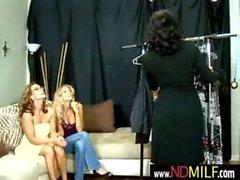 Lesbian MILFs snatch eating 26