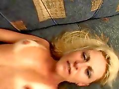 Hot Tan Blonde Milf fucks Monster Black Cock