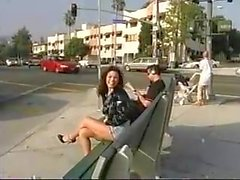 woman strips nude and walks around busy street