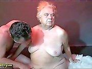 OldNanny Big tits bbw granny have a threesome