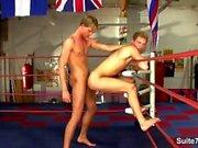 Boxen Jocks, die Sex in der Turnhalle