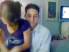 Vera coppia amateu fatto in casa di webcam il 18 y.o.
