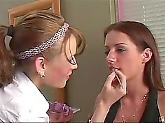 Kann diese sexy Make up Küken hat am für eine ganze raschend als sie