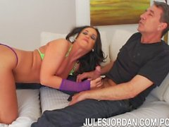 Jules Jordan - Roxy Raye Has Her Ass Stretched Wide Open With A Double Anal