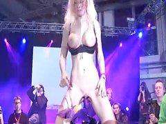 stepmoms dildo show on public stage